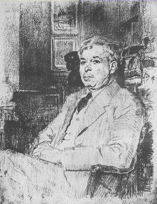 Professor G. Oprescu (litograph by Jean Al. Steriadi)